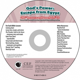 God's Power: Escape from Egypt Resource & PPT CD Download