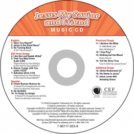 Jesus: My Savior & Friend Music CD