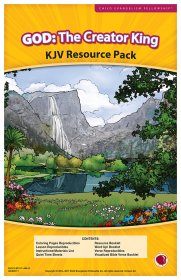 God: The Creator King Resource Pack KJV