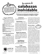 Calabazas inolvidable texto (Unforgettable Pumpkin Run - Text)