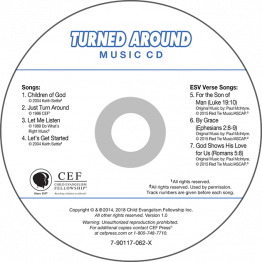 Turned Around Music CD
