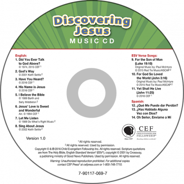 Discovering Jesus Music CD