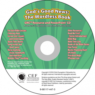 God's Good News: The Wordless Book GNC Resource PPT Digital Download