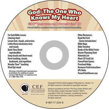 God: The One Who Knows My Heart Resource & PPT CD