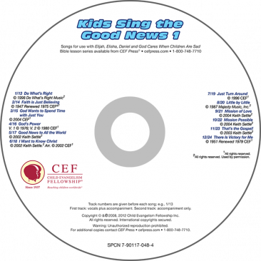 Kids Sing the Good News 1 CD