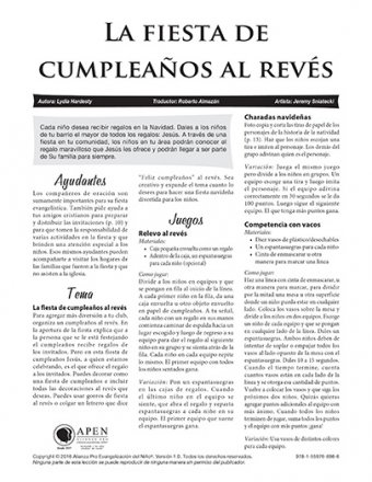 La fiesta de cumpleanos texto (Backwards Birthday Bash - Text)