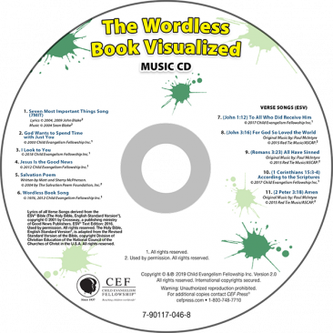 The Wordless Book Visualized Music CD